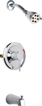 Chicago Faucets (SH-PB1-01-100)  Pressure Balancing Tub and Shower Valve with Shower Head and Diverter Tub Spout
