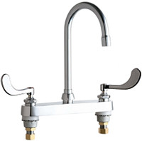 Chicago Faucets (527-GN2AE3-317ABCP) Hot and Cold Water Sink Faucet