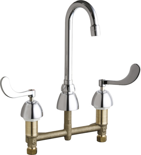 Chicago Faucets (201-AGN1AE3-317AB) Concealed Hot and Cold Water Sink Faucet
