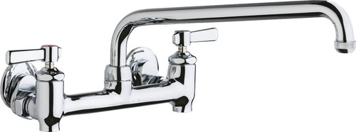 Chicago Faucets (640-L12E1-369YAB)  Hot and Cold Water Sink Faucet with Integral Supply Stops