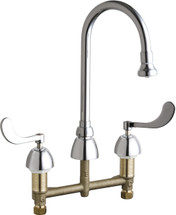 Chicago Faucets (786-XKABCP)  Concealed Hot and Cold Water Sink Faucet