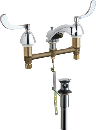 Chicago Faucets (404-E74-317POABCP)  Concealed Hot and Cold Water Sink Faucet with Pop-up Waste