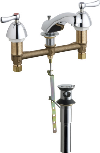 Chicago Faucets (404-E74XKPOABCP) Concealed Hot and Cold Water Sink Faucet with Pop-up Waste