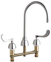 Chicago Faucets (201-G8AE2805F317AB)  Concealed Hot and Cold Water Sink Faucet