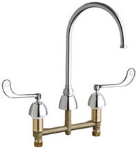 Chicago Faucets (201-AGN8AFC319ABCP)  Concealed Hot and Cold Water Sink Faucet
