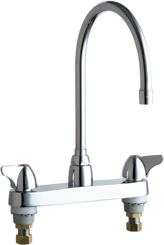 Chicago Faucets (1100-GN8AE35ABCP)  Hot and Cold Water Sink Faucet