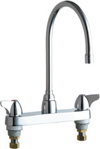 Chicago Faucets (1100-GN8AE3ABCP)  Hot and Cold Water Sink Faucet