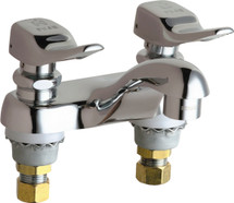 Chicago Faucets (802-V336ABCP)  Hot and Cold Water Metering Sink Faucet