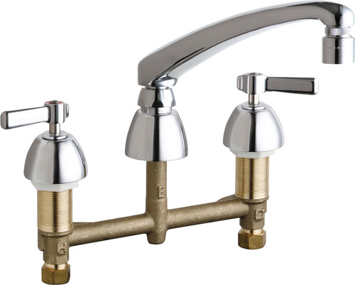 Chicago Faucets (201-AL8E29V317XKAB)  Concealed Hot and Cold Water Sink Faucet