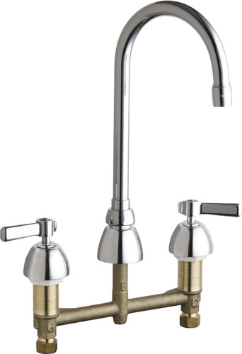 Chicago Faucets (786-E73-369ABCP) Concealed Hot and Cold Water Sink Faucet