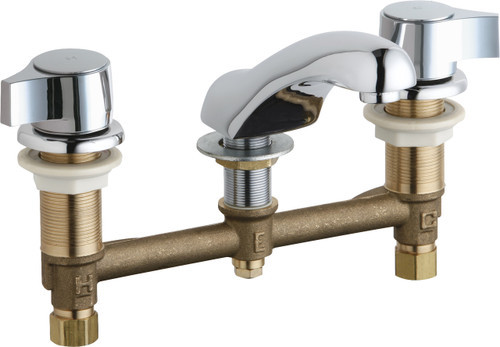 Chicago Faucets (404-E74-636ABCP)  Concealed Hot and Cold Water Sink Faucet
