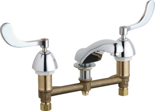 Chicago Faucets (404-E74-317XKABCP)  Concealed Hot and Cold Water Sink Faucet