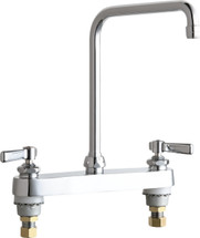 Chicago Faucets (527-HA8E35ABCP) Hot and Cold Water Sink Faucet