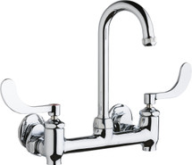 Chicago Faucets (640-GN1AE1-317YAB)  Hot and Cold Water Sink Faucet with Integral Supply Stops
