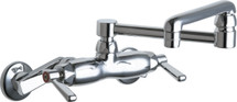 Chicago Faucets (445-DJ13ABCP) Hot and Cold Water Sink Faucet
