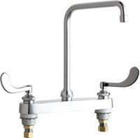 Chicago Faucets (527-HA8-317ABCP) Hot and Cold Water Sink Faucet
