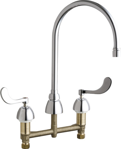 Chicago Faucets (786-GN8AE65VPAABCP)  Concealed Hot and Cold Water Sink Faucet