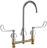 Chicago Faucets (786-GN2FC319ABCP)  Concealed Hot and Cold Water Sink Faucet
