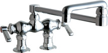 Chicago Faucets (772-DJ18E35ABCP)  Hot and Cold Water Sink Faucet
