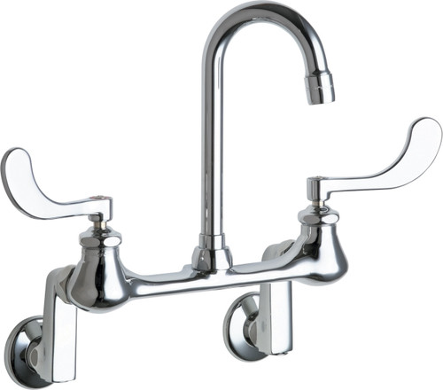 Chicago Faucets (631-E35XKRABCP)  Hot and Cold Water Sink Faucet