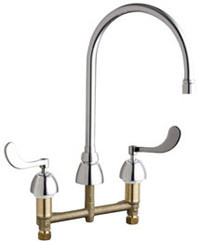 Chicago Faucets (786-GR8E35V317XKAB)  Concealed Hot and Cold Water Sink Faucet