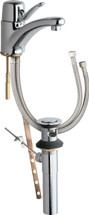 Chicago Faucets (2201-ABCP)  Single Lever Hot and Cold Water Mixing Sink Faucet with Pop-up Waste