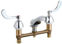 Chicago Faucets (404-317-245ABCP)  Concealed Hot and Cold Water Sink Faucet
