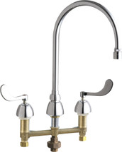 Chicago Faucets (786-TWGN8AE65VXKAB)  Concealed Hot and Cold Water Sink Faucet with Third Water Inlet