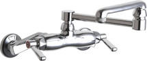 Chicago Faucets (445-DJ13E1ABCP)  Hot and Cold Water Sink Faucet