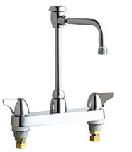 Chicago Faucets (1100-GN8BVBE2-2CP) Hot and Cold Water Sink Faucet