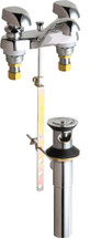 Chicago Faucets (797-E74-335ABCP)  Hot and Cold Water Metering Sink Faucet with Pop-up Waste