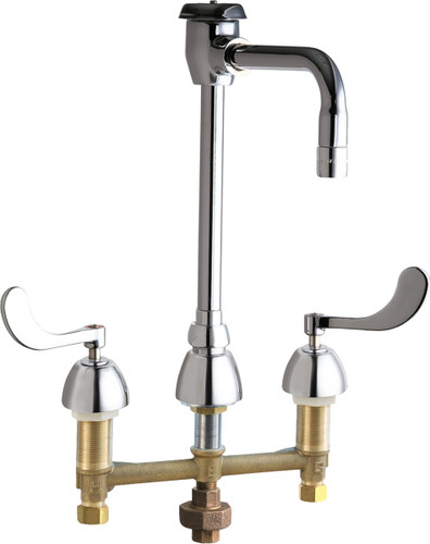 Chicago Faucets (786-TWG2BVBE3MAB)  Concealed Hot and Cold Water Sink Faucet with Third Water Inlet