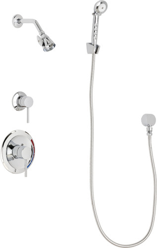 Chicago Faucets (SH-PB1-17-010)  Pressure Balancing Tub and Shower Valve with Shower Head