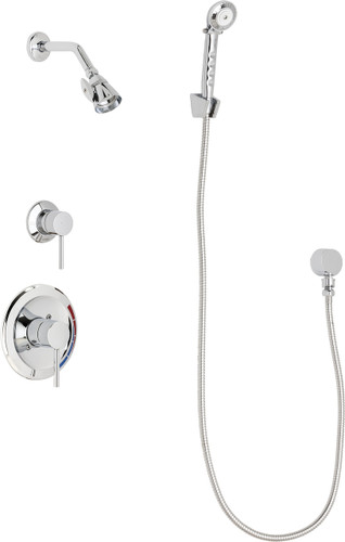 Chicago Faucets (SH-PB1-17-030)  Pressure Balancing Tub and Shower Valve with Shower Head