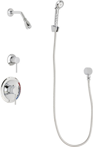 Chicago Faucets (SH-PB1-12-030)  Pressure Balancing Tub and Shower Valve with Shower Head