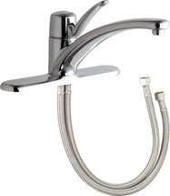 Chicago Faucets (2300-8E34ABCP)  Single Lever Hot and Cold Water Mixing Sink Faucet