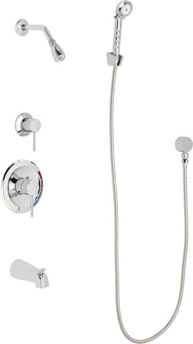 Chicago Faucets (SH-PB1-13-140)  Pressure Balancing Tub and Shower Valve with Shower Head
