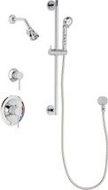 Chicago Faucets (SH-PB1-17-011) Pressure Balancing Tub and Shower Valve with Shower Head