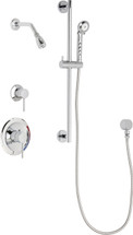 Chicago Faucets (SH-PB1-12-011)  Pressure Balancing Tub and Shower Valve with Shower Head