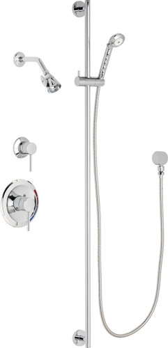 Chicago Faucets (SH-PB1-16-022)  Pressure Balancing Tub and Shower Valve with Shower Head