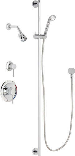 Chicago Faucets (SH-PB1-16-042)  Pressure Balancing Tub and Shower Valve with Shower Head