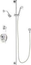 Chicago Faucets (SH-PB1-17-042) Pressure Balancing Tub and Shower Valve with Shower Head