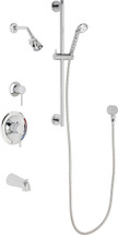 Chicago Faucets (SH-PB1-16-141)  Pressure Balancing Tub and Shower Valve with Shower Head