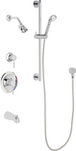 Chicago Faucets (SH-PB1-17-141)  Pressure Balancing Tub and Shower Valve with Shower Head