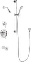 Chicago Faucets (SH-PB1-13-141)  Pressure Balancing Tub and Shower Valve with Shower Head