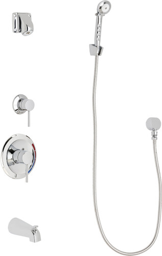 Chicago Faucets (SH-PB1-14-110)  Pressure Balancing Tub and Shower Valve with Shower Head