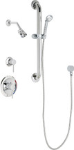 Chicago Faucets (SH-PB1-16-043) Pressure Balancing Tub and Shower Valve with Shower Head
