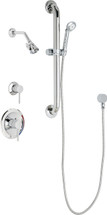 Chicago Faucets (SH-PB1-17-023)  Pressure Balancing Tub and Shower Valve with Shower Head