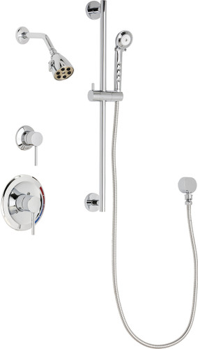 Chicago Faucets (SH-PB1-11-011)  Pressure Balancing Tub and Shower Valve with Shower Head