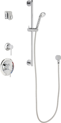 Chicago Faucets (SH-PB1-15-021)  Pressure Balancing Tub and Shower Valve with Shower Head